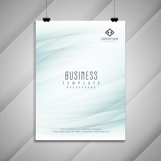 抽象的なビジネスパンフレットのテンプレートデザイン 無料ベクター