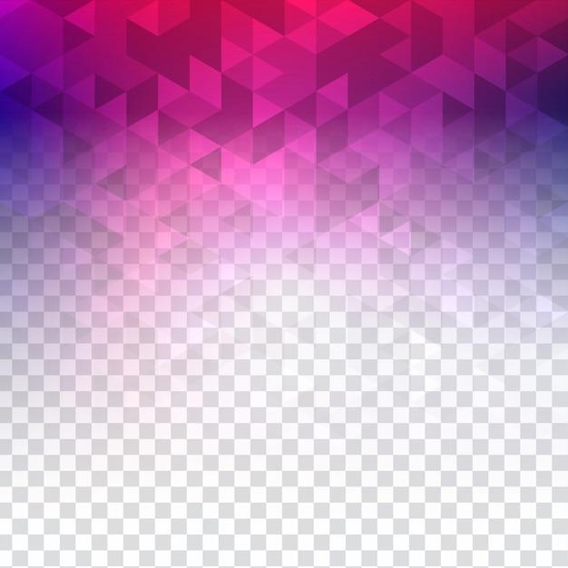 抽象的なカラフルな透明な多角形 無料ベクター