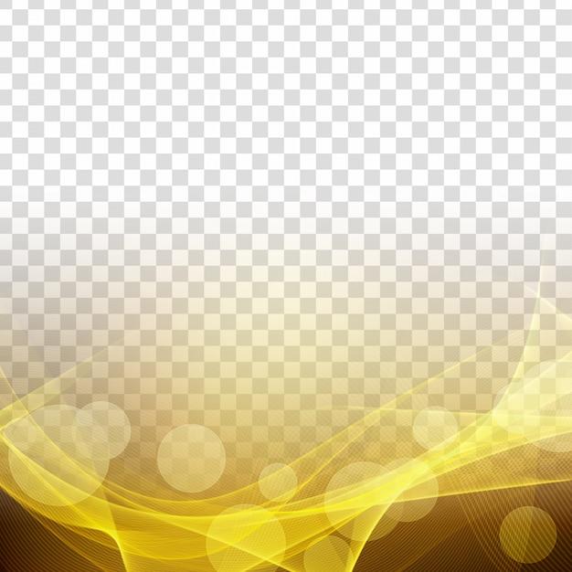 抽象的な近代的な輝く波の透明な背景 無料ベクター