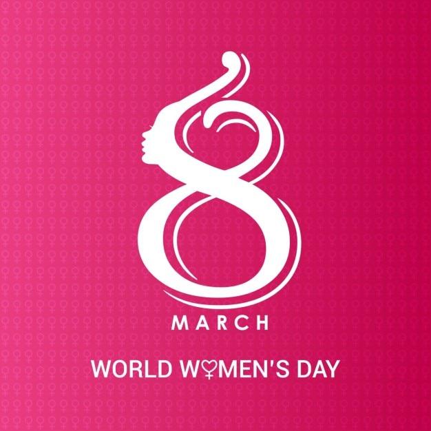 8 марта Творческий женский день логотип Бесплатные векторы