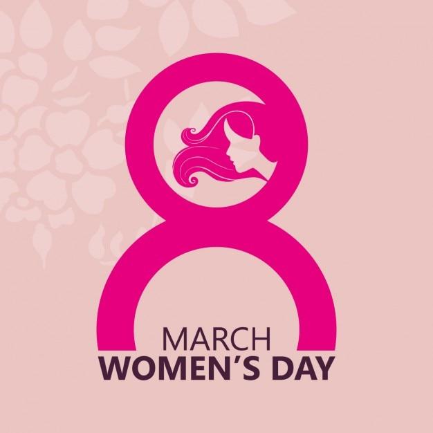 Розовый женский день Фон Бесплатные векторы