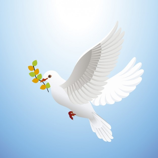平和の鳩 無料ベクター