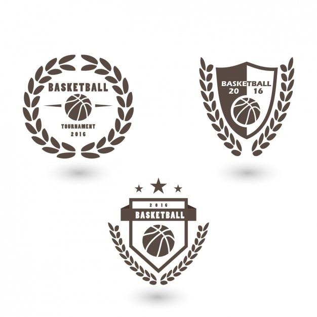 バスケットボールロゴテンプレートデザイン 無料ベクター