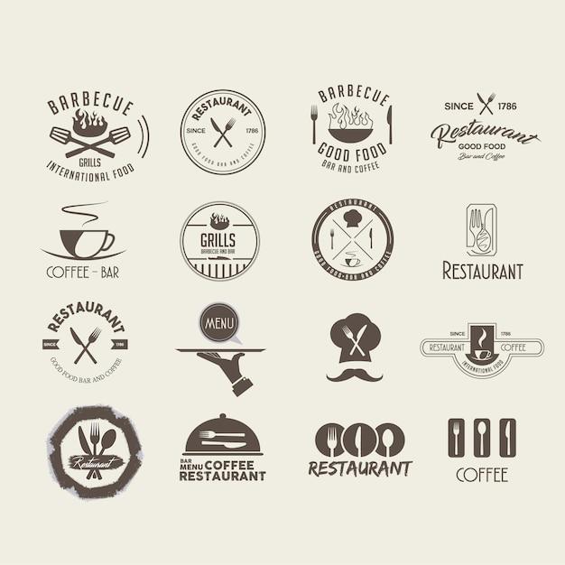 レストランのロゴデザイン 無料ベクター
