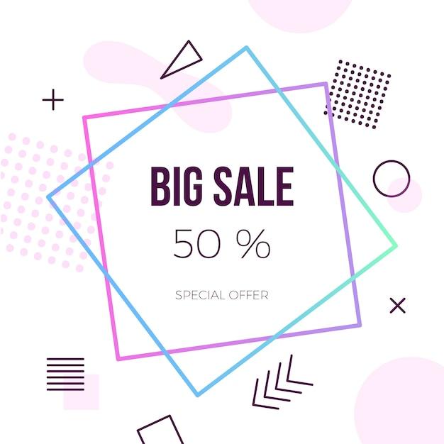 カラフルな抽象幾何学的な大規模な販売 無料ベクター