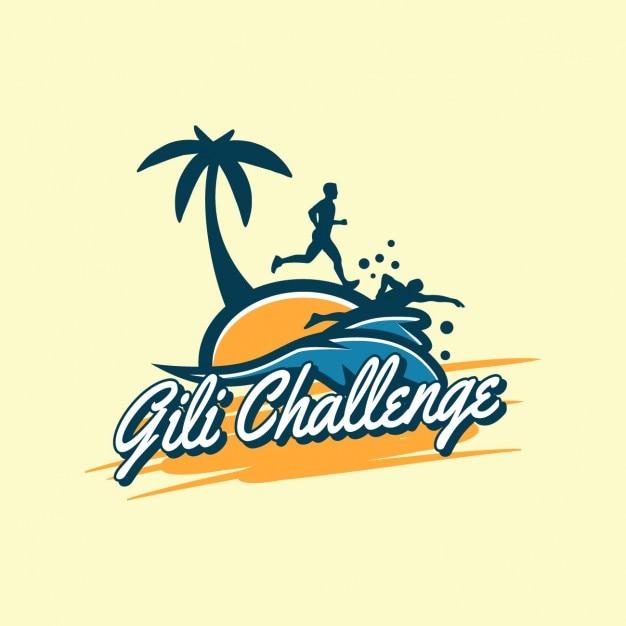 ビーチのロゴデザイン ベクター画像 無料ダウンロード