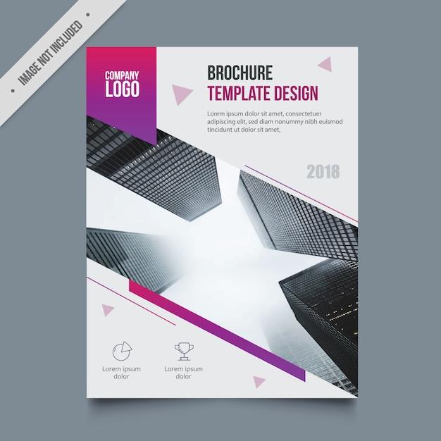 パンフレットのテンプレートデザイン 無料ベクター