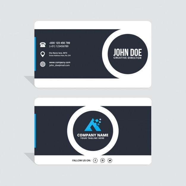 Корпоративный закругленный угол Визитная карточка Бесплатные векторы