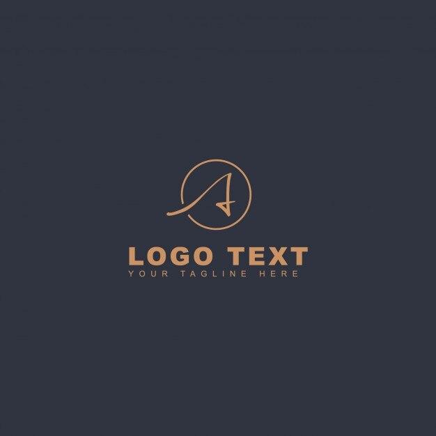 創造的な手紙ロゴ 無料ベクター