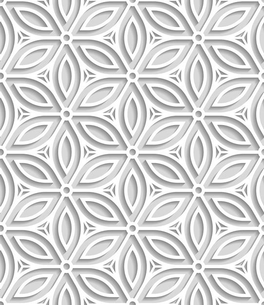 紙から切り落とされた日本のシームレスなパターン 無料ベクター