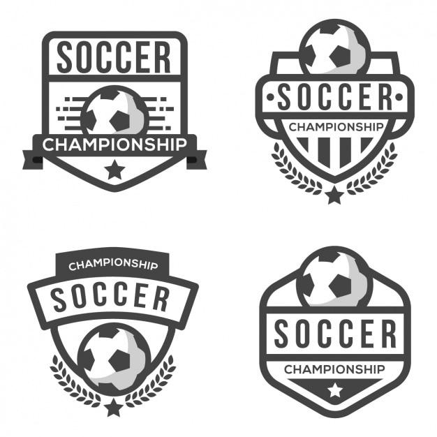 サッカーのロゴテンプレート ベクター画像 無料ダウンロード
