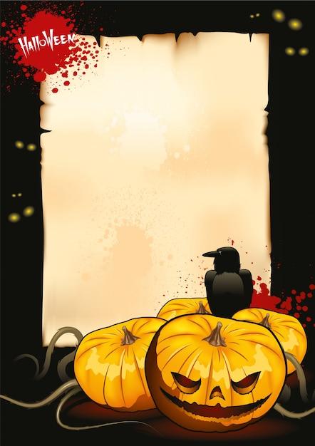 ハロウィーンのポスターテンプレート ベクター画像 無料ダウンロード