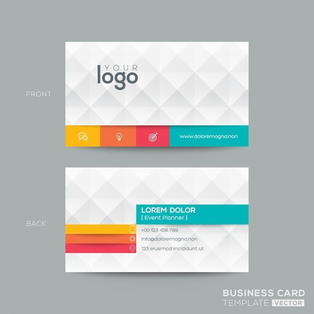ダイヤモンドグレーパターン背景を持つビジネスカード 無料ベクター