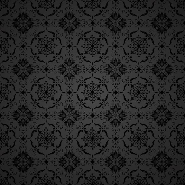 ベクトルダムシームレスパターンの背景。古典的な高級古風なダマスクの装飾、壁紙、繊維、ラッピングのためのロイヤルビクトリアシームレステクスチャ。絶妙な花のバロック様式のテンプレート。 無料ベクター