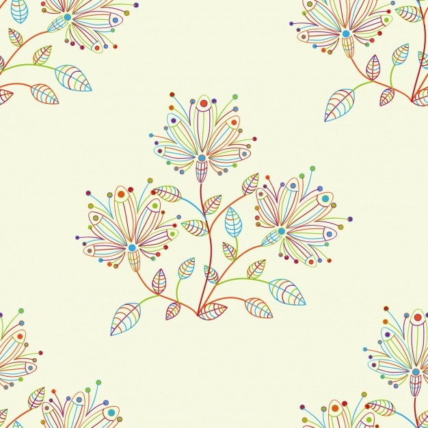 花柄のデザイン 無料ベクター