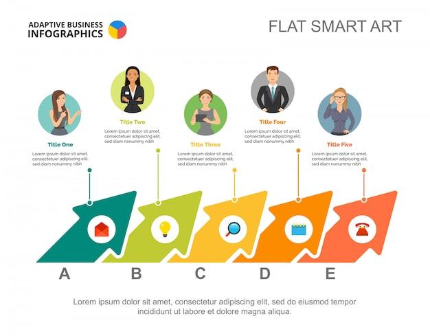 創造的なビジネスチームのスライドテンプレート ビジネスデータ グラフ