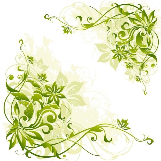 Фон зеленый листья