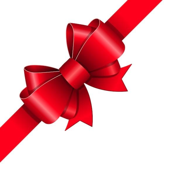 赤いリボンの弓 ベクター画像 無料ダウンロード