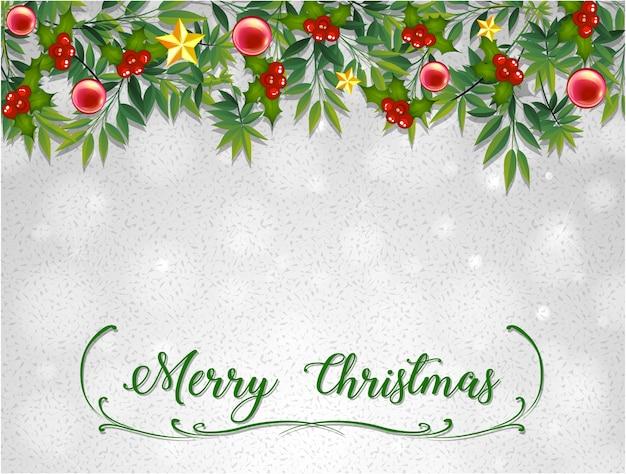 ミスレツリーのメリークリスマスカードテンプレート ベクター画像 無料