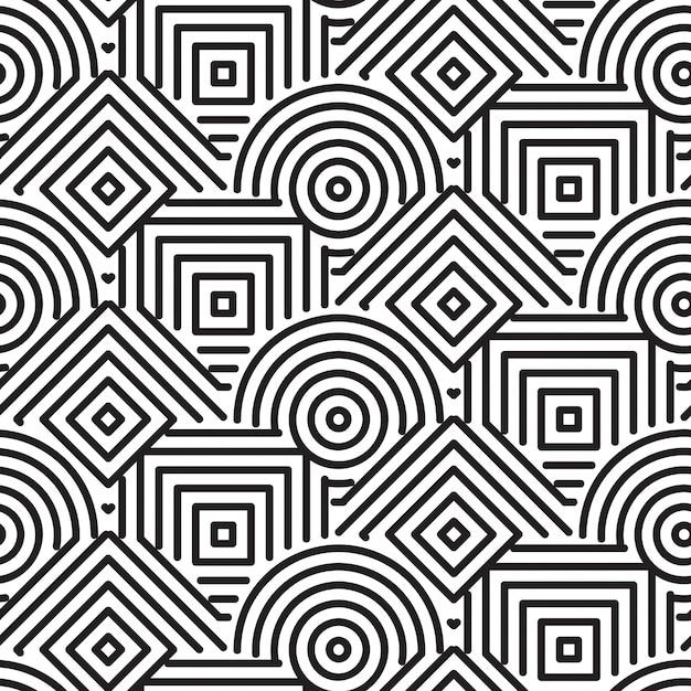 幾何学模様の背景 無料ベクター