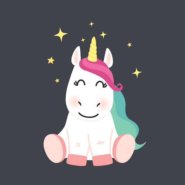 cute unicorn cartoon - 626×626