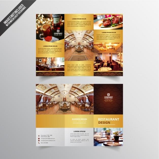 レストランのフライヤーデザイン 無料ベクター