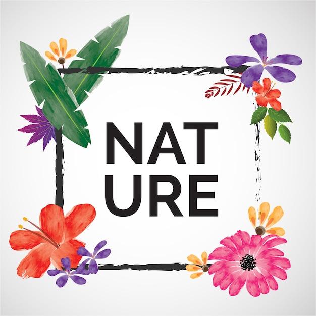 自然の背景デザイン 無料ベクター