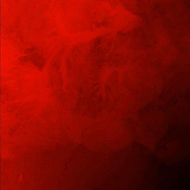 ロイヤル水彩バレンタイン赤い背景 無料ベクター