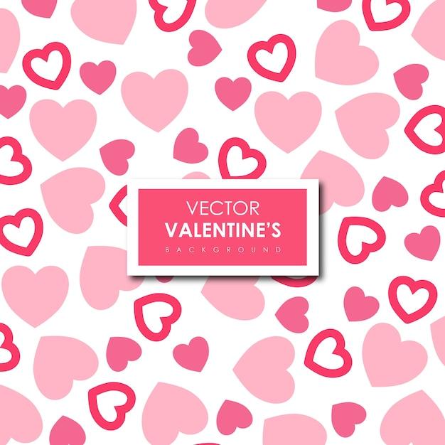 シンプルなバレンタインのベクトルハートの背景 無料ベクター