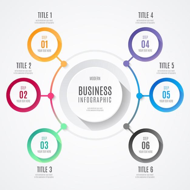 現代ビジネスインフォグラフィック 無料ベクター