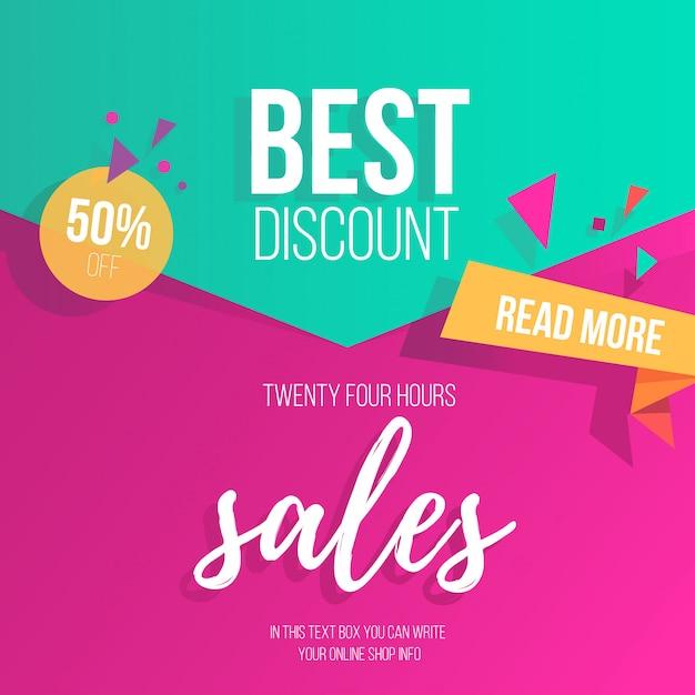Красочный фон для продажи Бесплатные векторы
