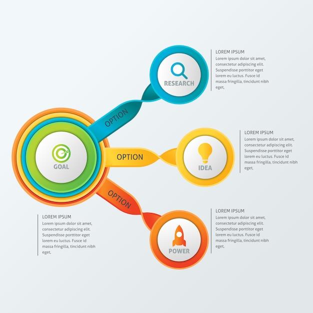 Круглый бизнес-инфографический шаблон Бесплатные векторы