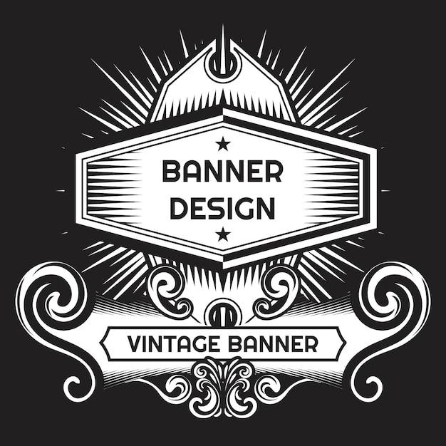 黒と白の背景デザイン 無料ベクター