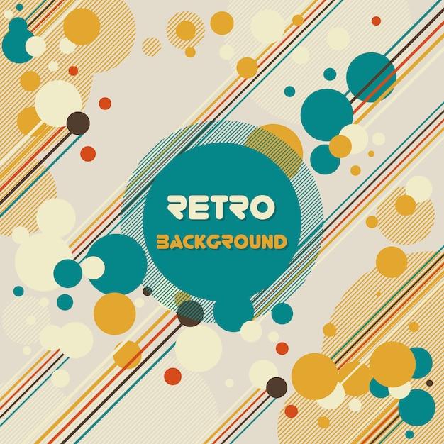 色の泡は、背景をレトロ 無料ベクター
