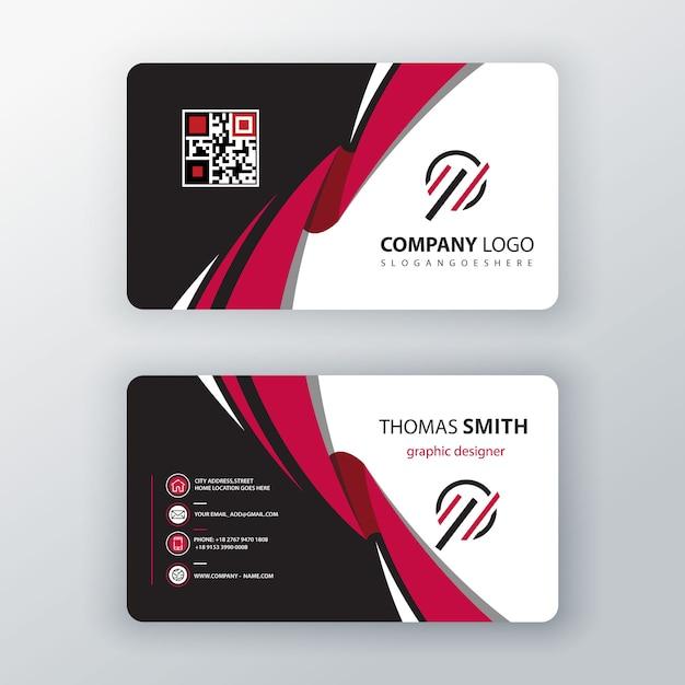 векторный шаблон визитная карточка Бесплатные векторы