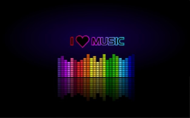 Red heart with headphones love music vector image #6732 – rfclipart.