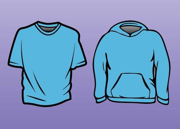 футболки толстовки шаблон Бесплатные векторы 41704aa1fd2