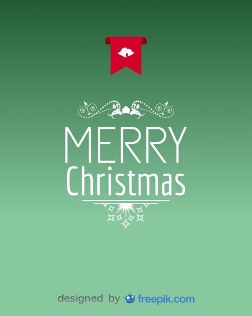 Открытка с Рождеством украшения Бесплатные векторы