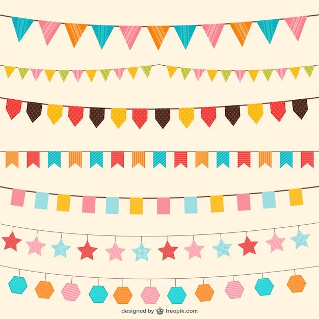 誕生日のデコレーションベクトルの装飾品 無料ベクター