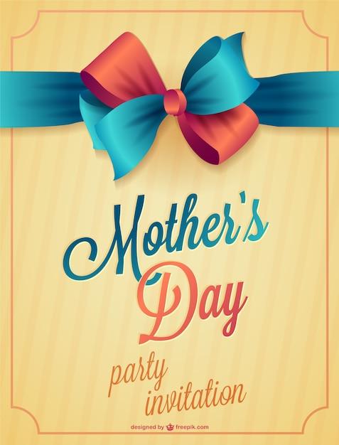 День матери для печати карт Бесплатные векторы