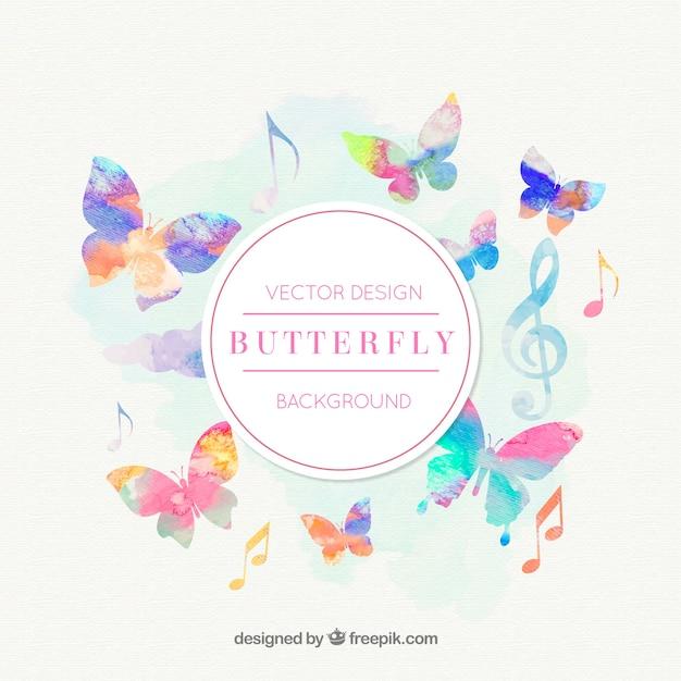 Фоновая музыка бабочки вектор вектор | скачать.