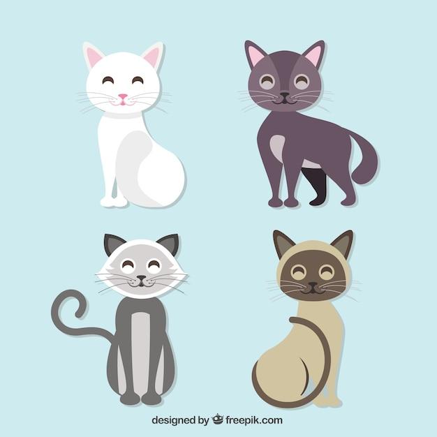 かわいい黒猫の無料イラスト 無料ベクター