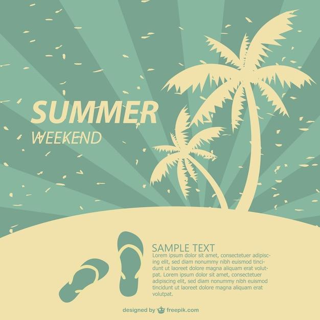 夏のポスタートロピカルなデザイン ベクター画像 無料ダウンロード