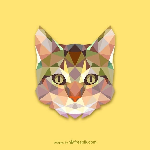 三角形の猫のデザイン 無料ベクター