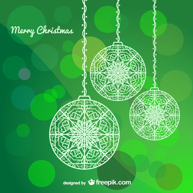 Рождественская елка шарики Бесплатные векторы
