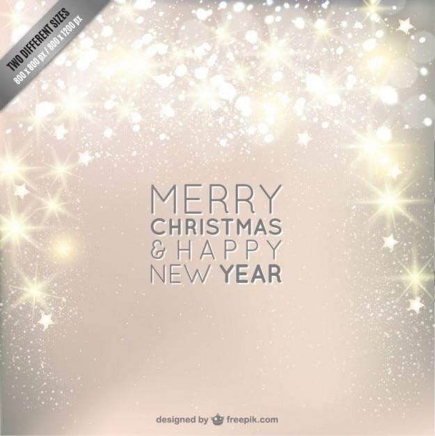 Новогодняя открытка с блеском Бесплатные векторы