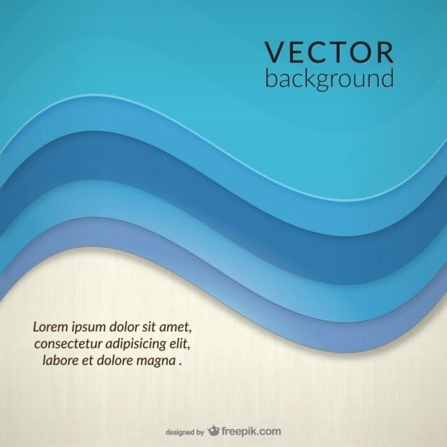 抽象的な海の波背景テンプレート 無料ベクター
