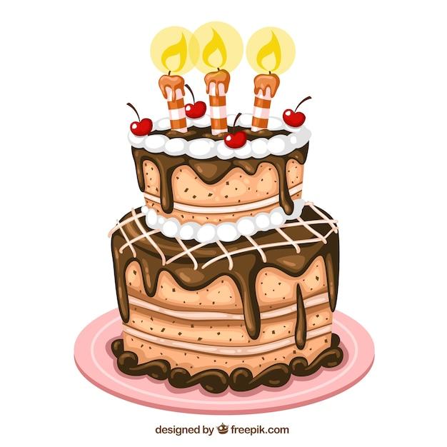 バースデーケーキのイラスト ベクター画像 無料ダウンロード