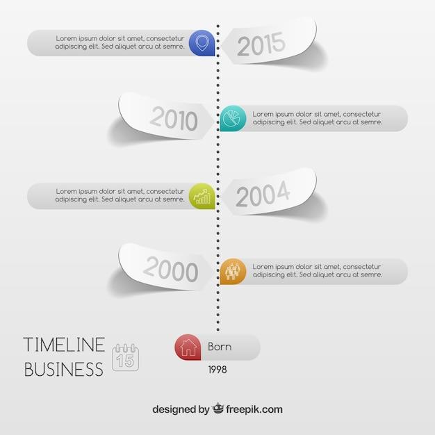 ビジネスタイムラインインフォグラフィック ベクター画像 無料ダウンロード