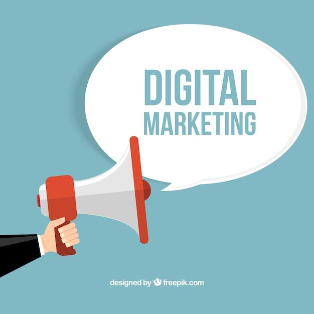 デジタルマーケティングの概念 無料ベクター